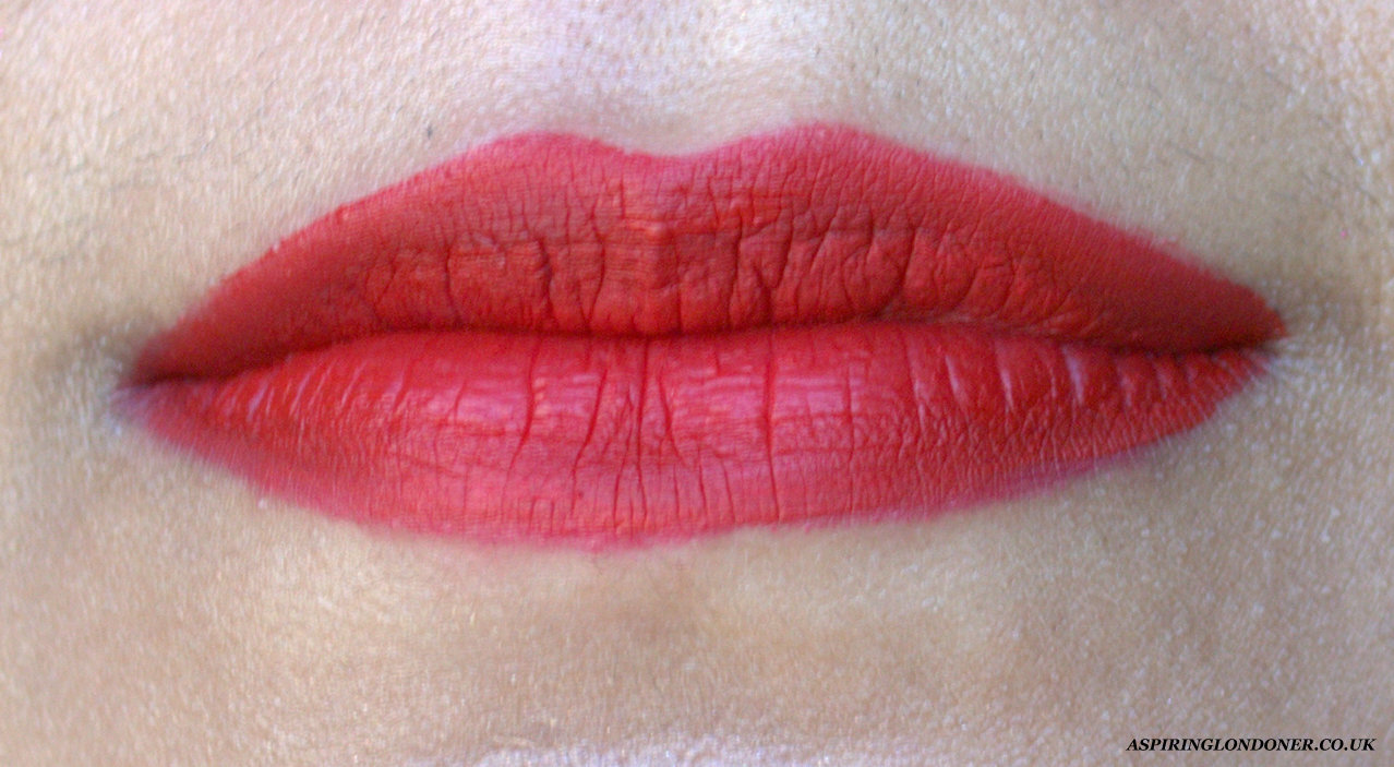 Sephora Cream Lip Stain Always Red Lip Swatch - Aspiring Londoner