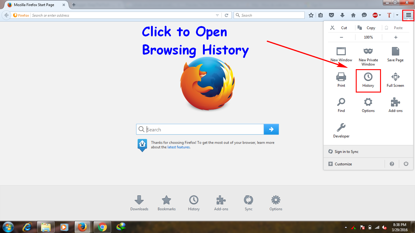 Step 3 : You Can Delete Firefox Browser How To Delete Cookies And History  In Firefox