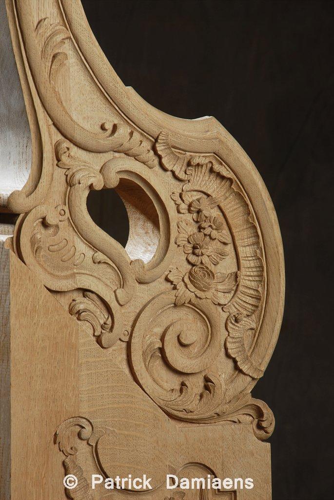 Ornamental woodcarver patrick damiaens custom made stair newels