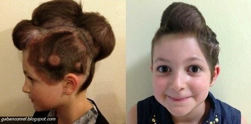 Walaupun Pelik Gaya Rambut Aneh Selamatkan Gadis Kecil Ini Dari Kanser