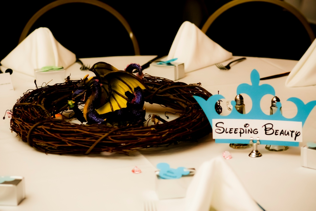 Ultimate disney weddings centerpieces part two this for Sleeping beauty wedding table