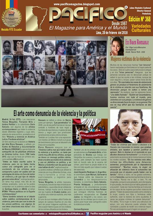 Revista Pacífico Nº 368 Variedades Culturales
