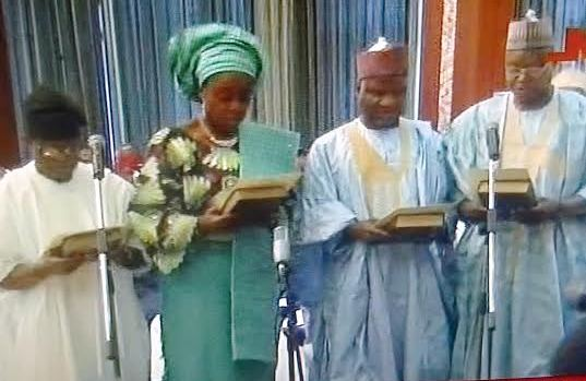 Adeosun, Abubakar, Daramola, Jibrin take their oath of office