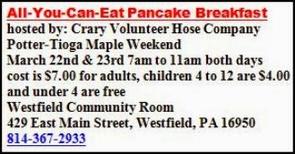 3-22/23 All You Can Eat Pancake Breakfast
