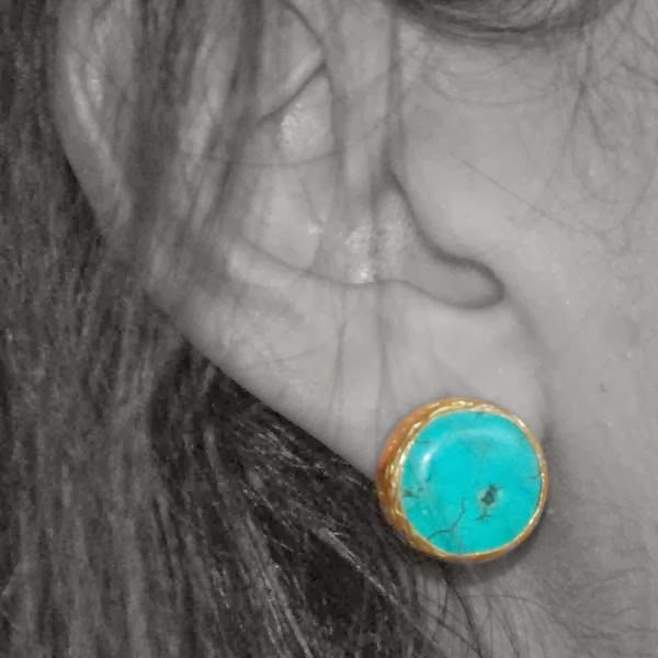 Turquoise Stud earrings from Boticca