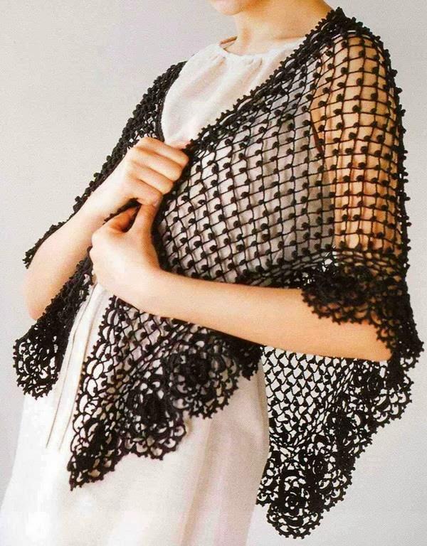Easy Lacy Crochet Shawl Pattern : Crochet Shawls: Crochet Lace - Crochet pattern Of Classy Shawl