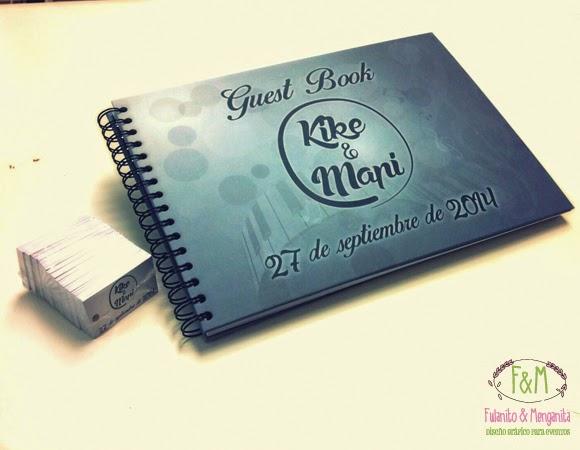 Diseño personalizado de libros de firmas y etiquetas para bodas