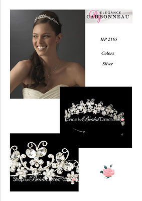 Discount Bridal Prices: Elegance by Carbonneau~~HP-2165~Pretty Butterfly Tiara~$69.95