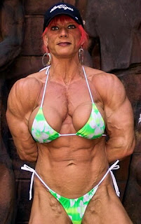 Funny body builder girl LOL Photo