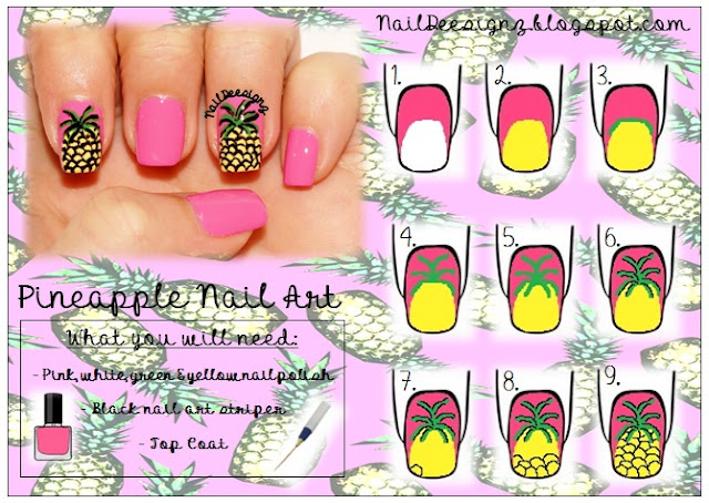 http://naildeesignz.blogspot.co.uk/2015/07/pineapple-nail-art.html
