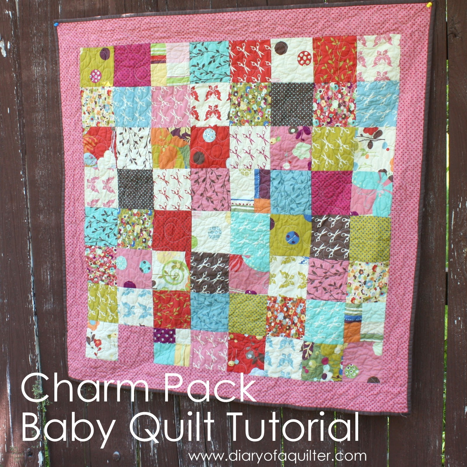Quilting Patterns Charm Packs : Charm-pack baby quilt tutorial - Diary of a Quilter - a quilt blog