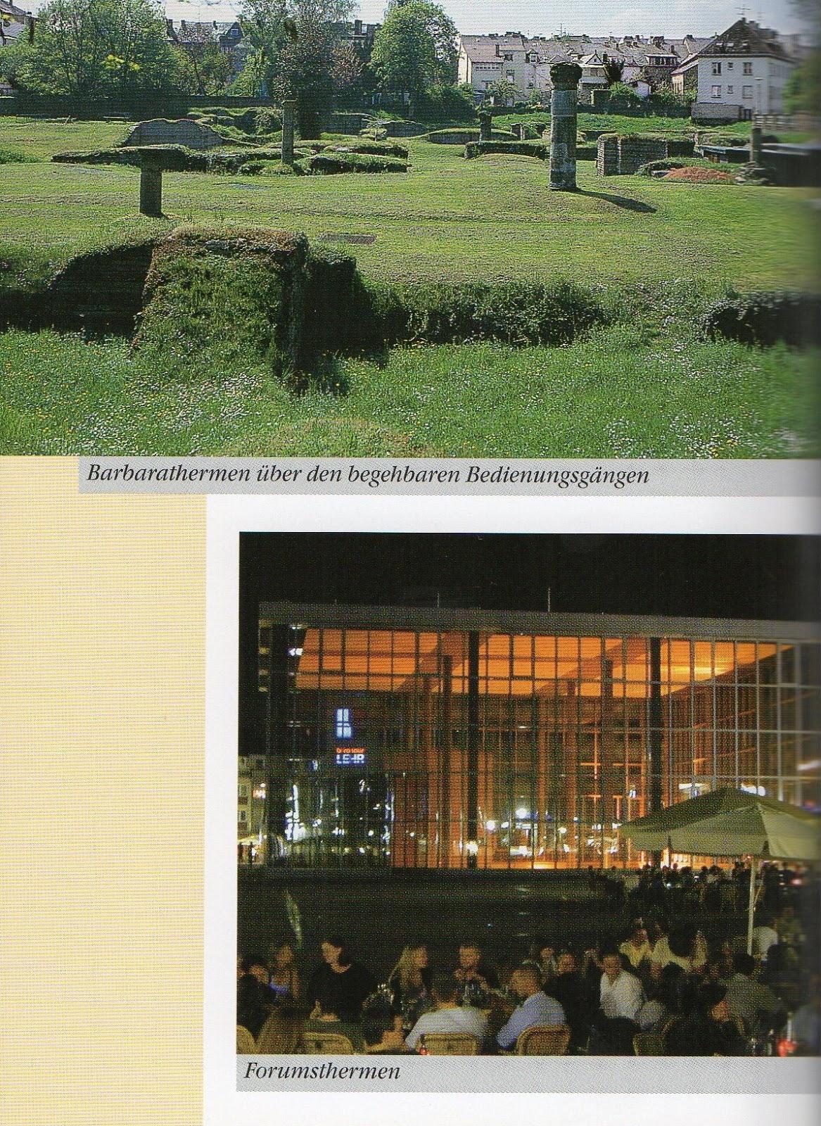 termas romanas em Trier, Alemanha