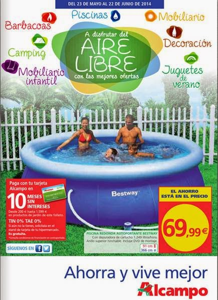 Ofertas alcampo aire libre verano 2014 for Catalogo piscinas alcampo