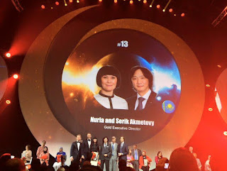 Global Top 15 Oriflame #13 Kazakhstan Nuria and Serik Akmettovy (Gold Executive Director)
