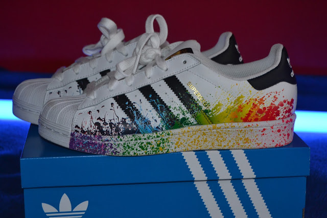 superstar rainbow scarpe