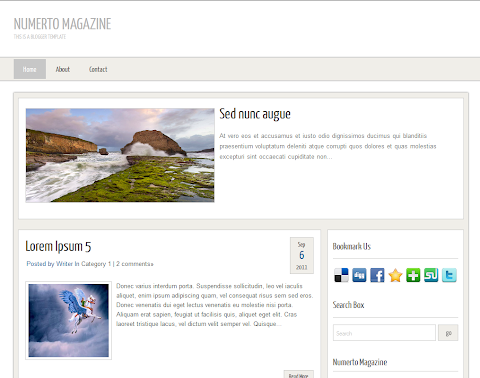 Numerto Magazine Blogger Theme
