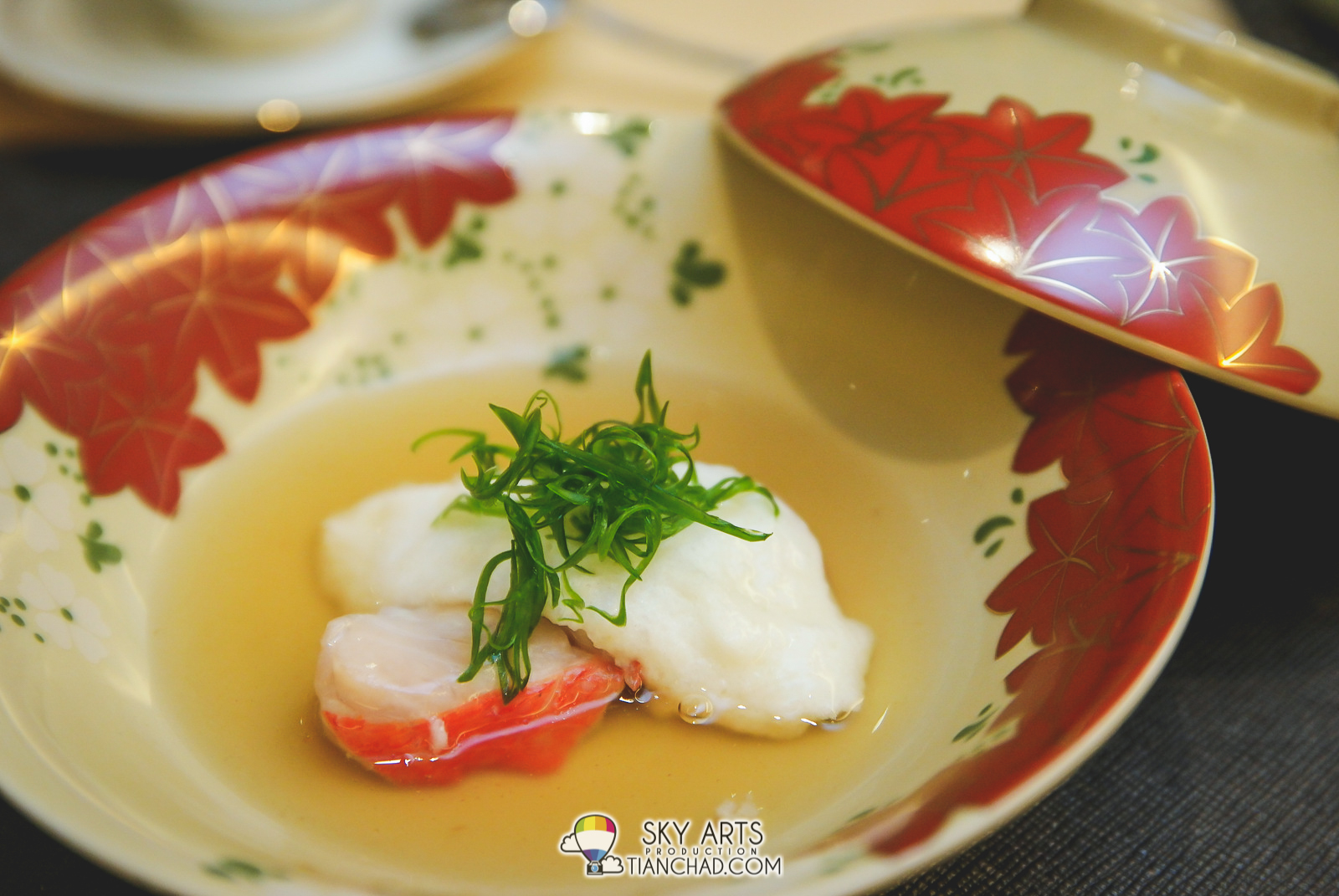 Steamed Alfonsino paired with Japanese Yam and Egg White with a hint of fish stock