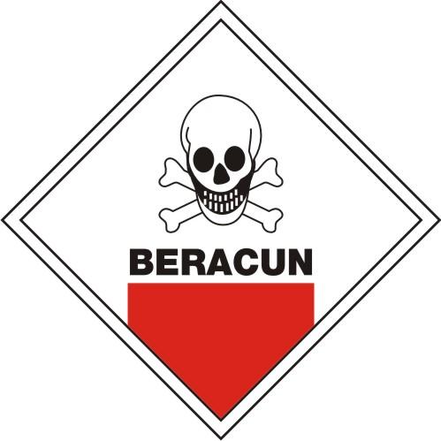 Contoh Sticker Sabloon Untuk Simbol Peringatan Bahan Kimia ...