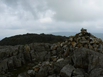 The summit of Glaramara looking to the 'Wainwright' summit