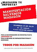 LA ASOCIACIÓN SALVEMOS MAZAGÓN CONVOCA MANIFESTACIÓN