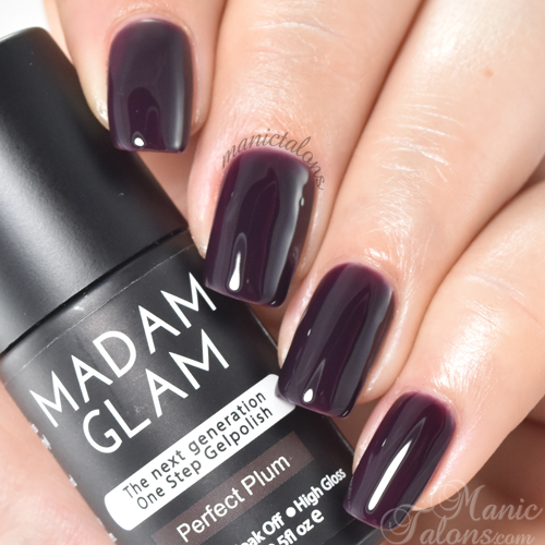 Madam Glam One Step Perfect Plum Swatch