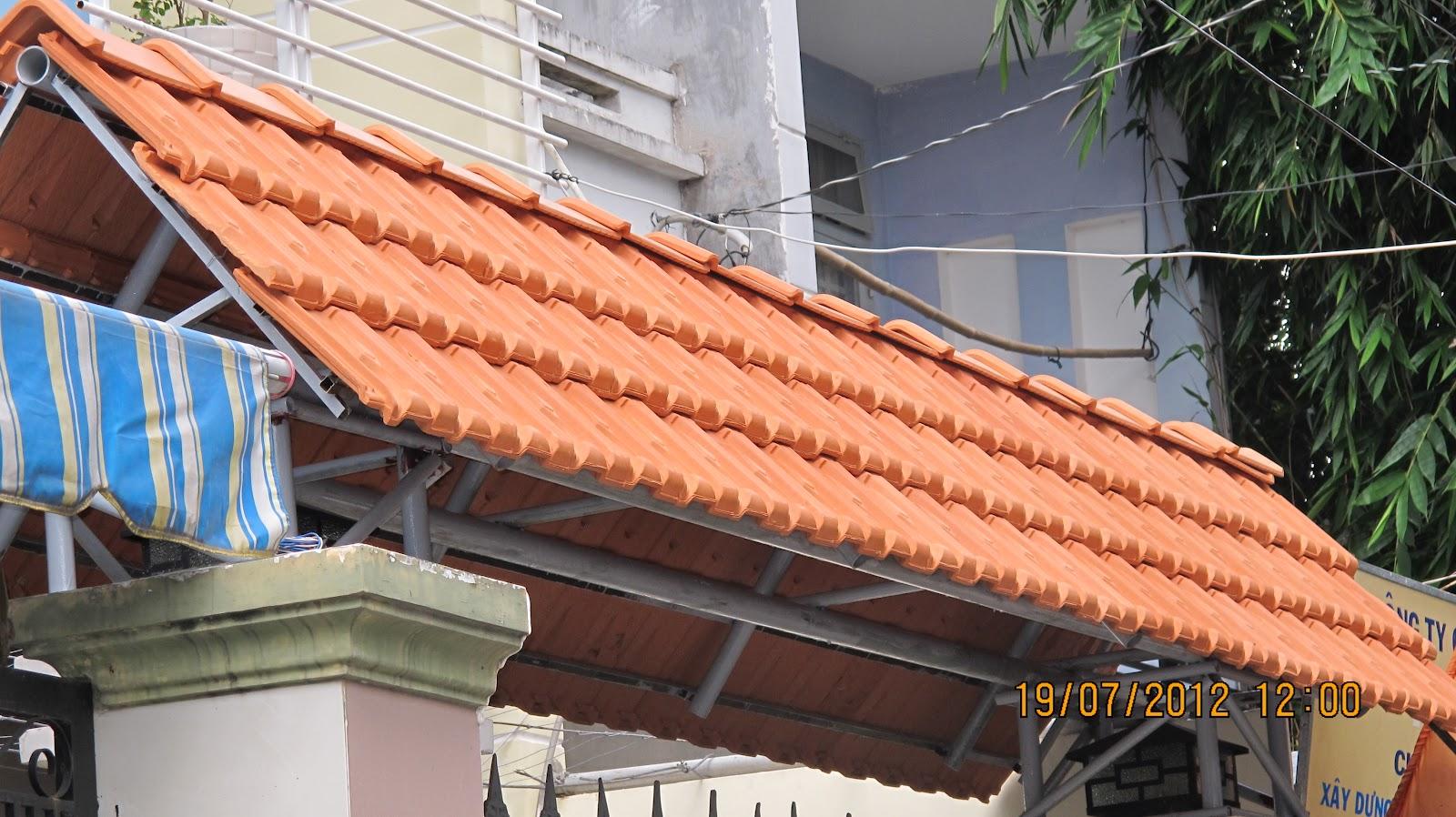 Ngói 22 Đồng Nai Phan Thanh Giản -lợp cổng biệt thự rất bề thế