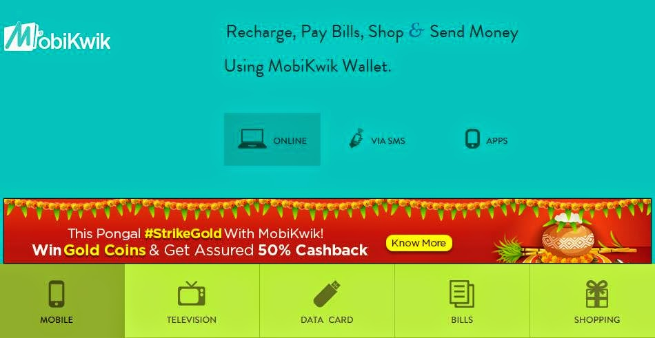 Another Smart Way To Pay Bills and Recharge Mobiles: MobiKwik