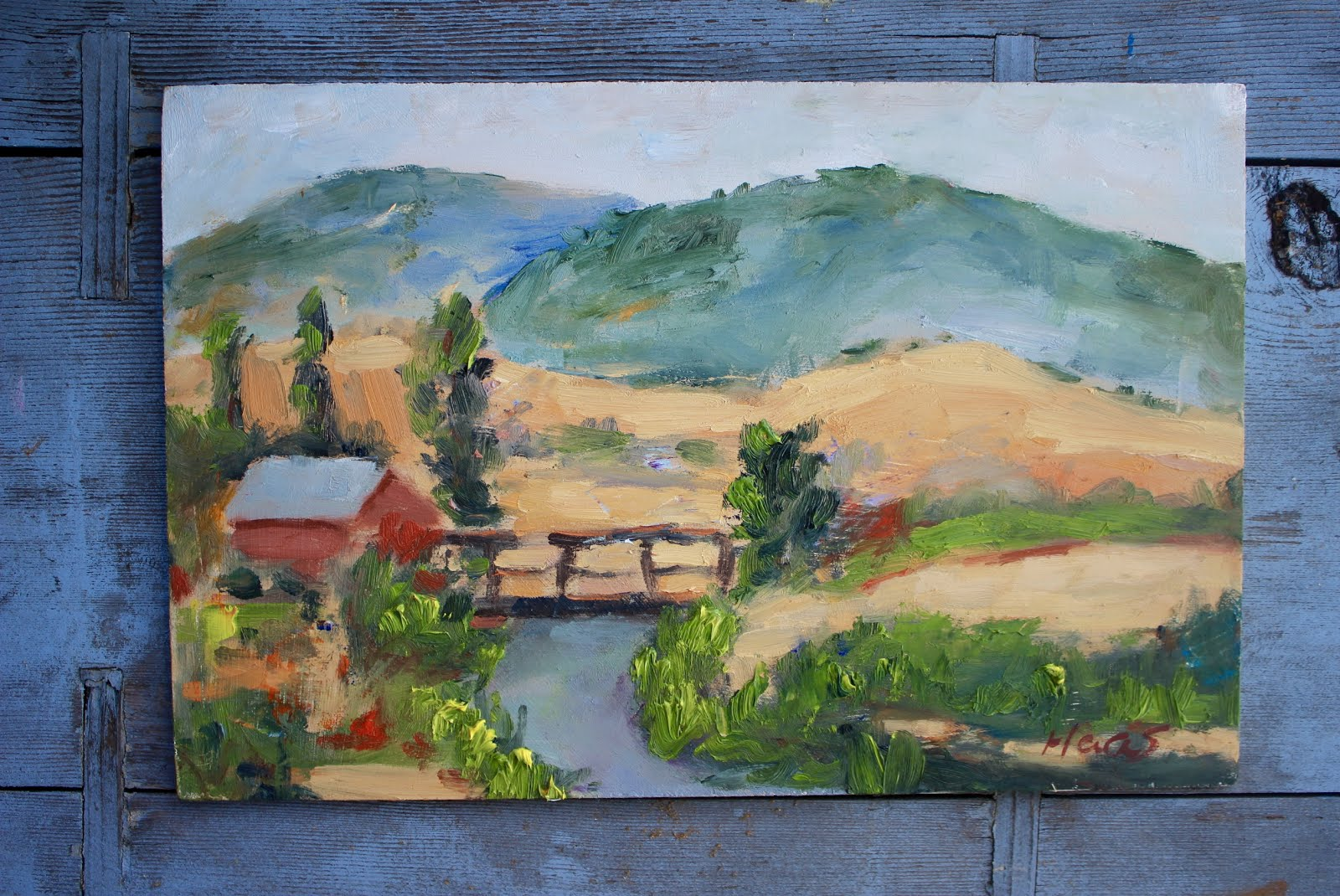 On the Way Home, Plein Air