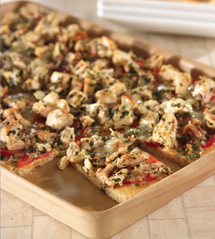 Chicken, Tomato and Basil Flatbread in the Medium Bar Pan, direct from ...