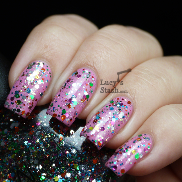 Lucy's Stash - Nicole By OPI Confetti Fun over Naturally