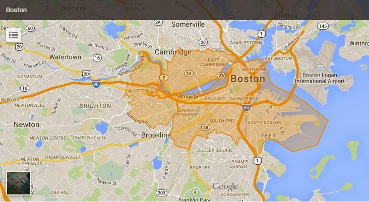 Boston Caviar Delivery Area