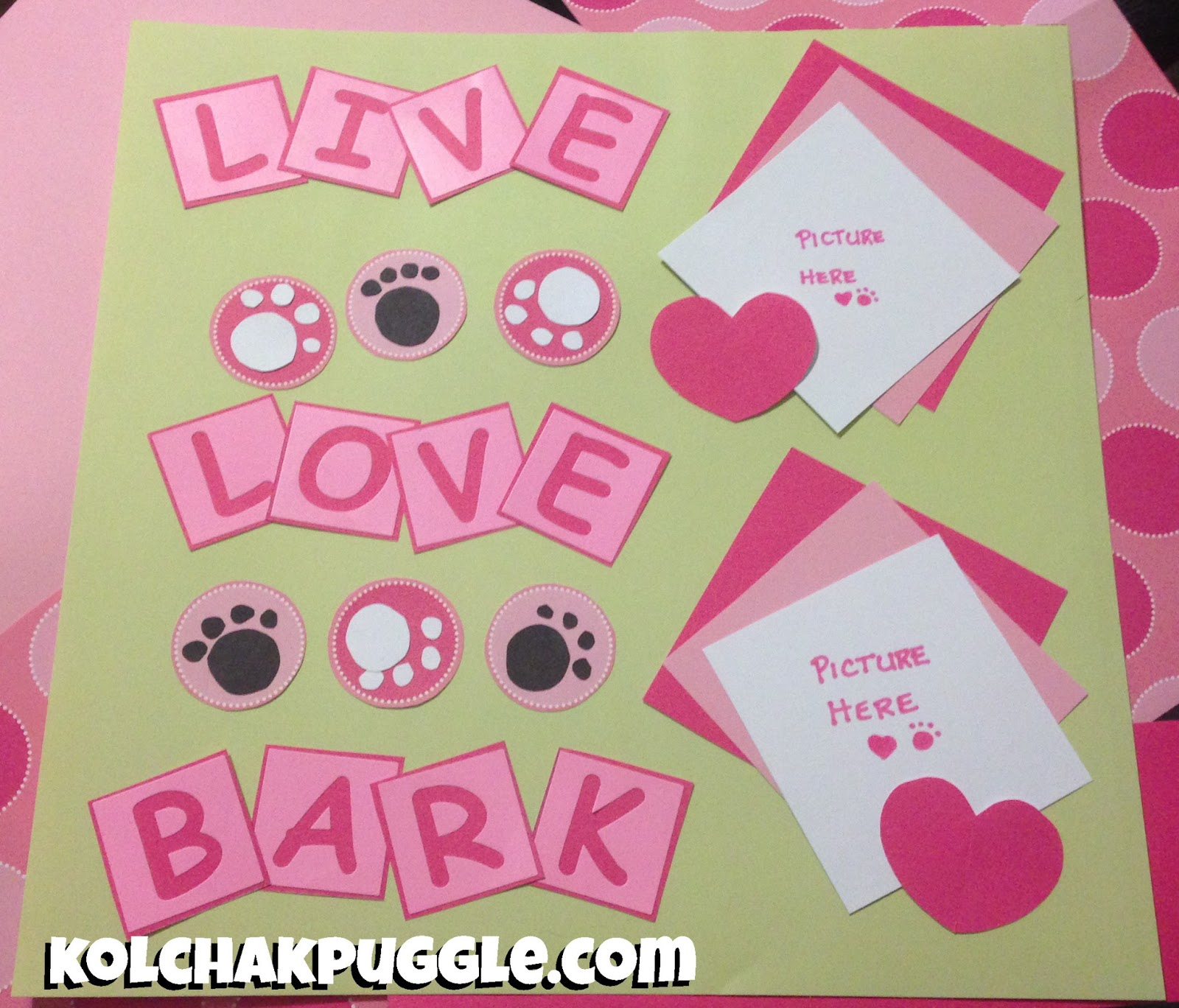 Scrapbook paper dogs - Our First Page Of Our Dog Themed Scrapbook Yaaaaaaay