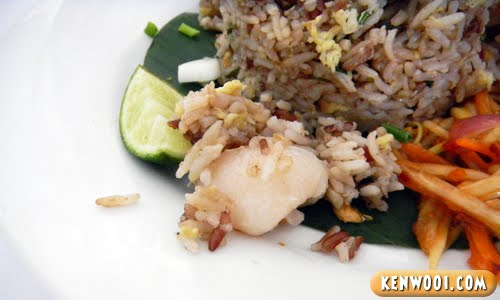fried rice with lychee