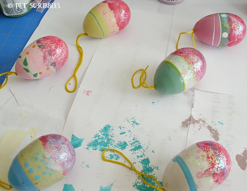 Easy Monogrammed Easter Eggs - takes only 15 minutes minus drying time!