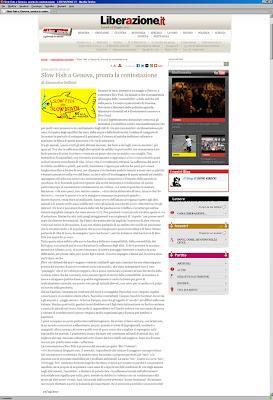 articolo su liberazione per mobilitazione a genova