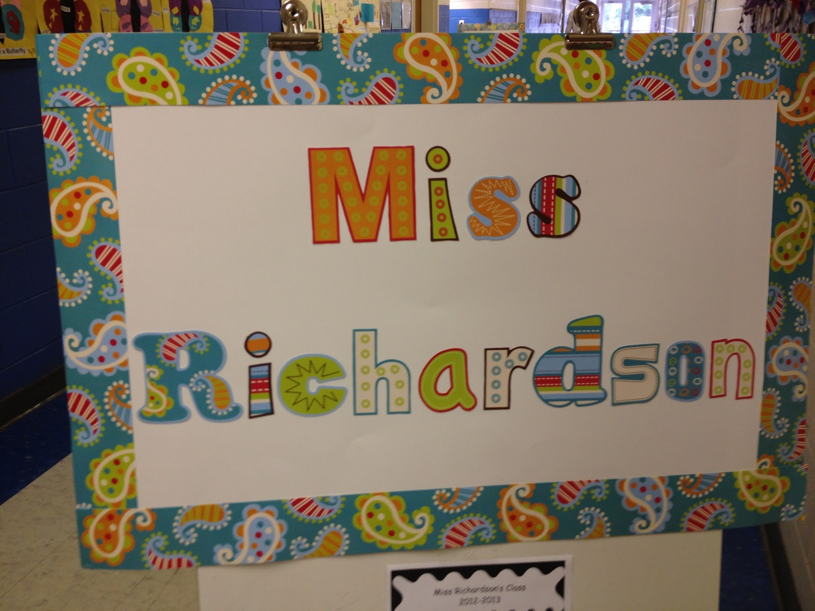 second grade style: open house & getting organized