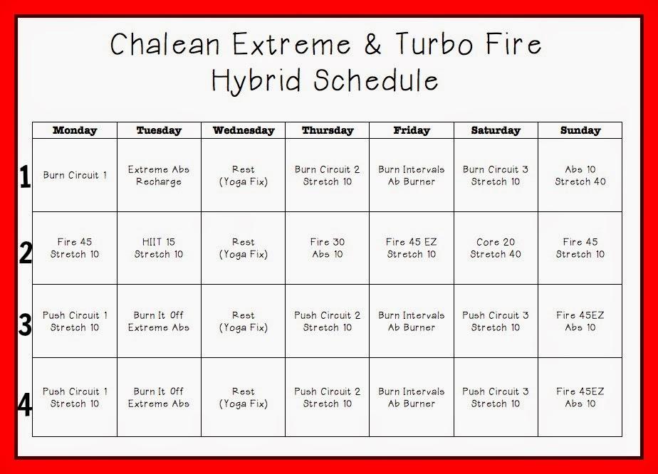 Turbo Fire Schedule Week 9 | Calendar Template 2016