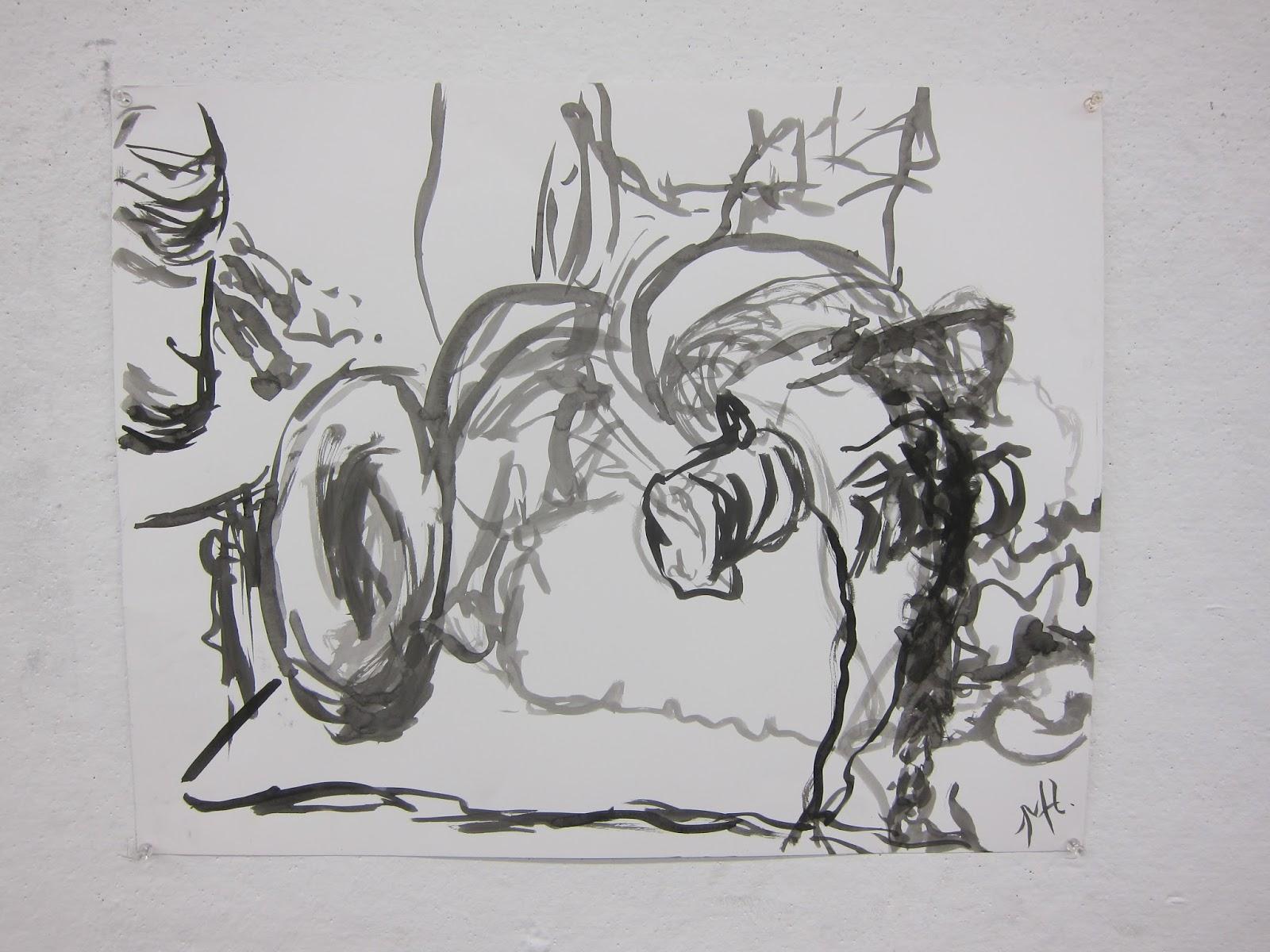 Contour Line Drawing Still Life : Art portfolio contour line still life drawings