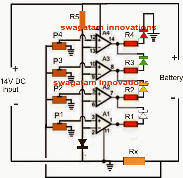 Battery Current Sensor with Indicator Circuit