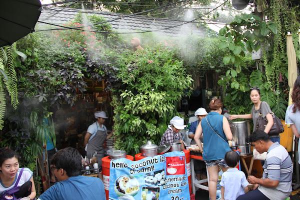 Secciones del Mercado de Chatuchak en Bangkok