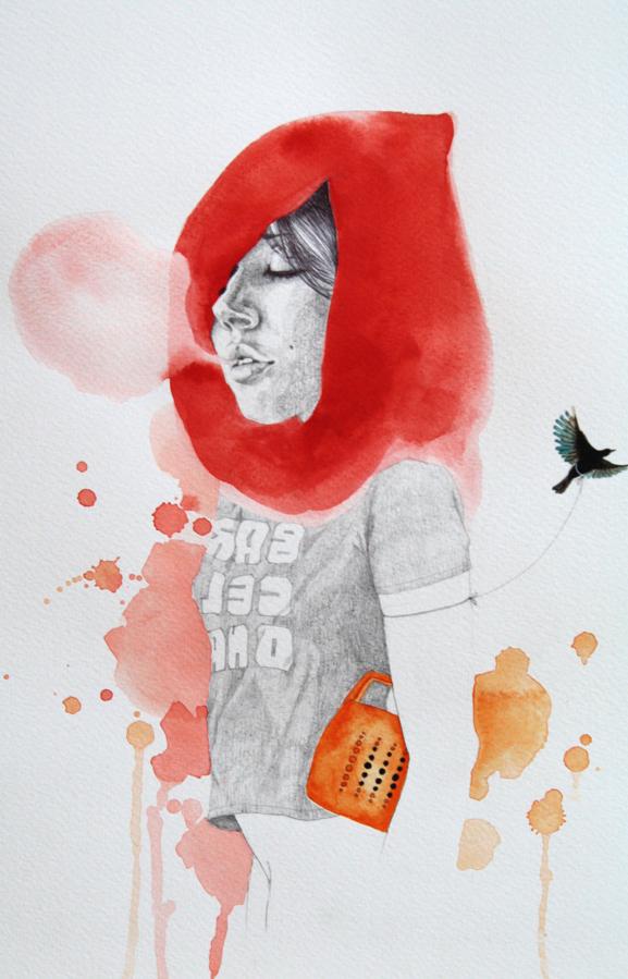 Doctor Ojiplático. Antonella Montes aka Lantomo. Paper & Wood.Illustration | Ilustración
