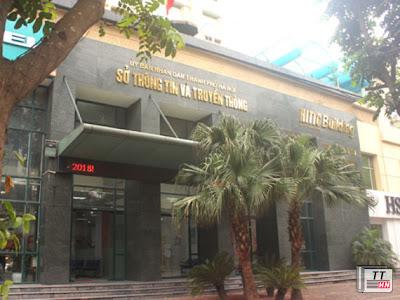 Trụ sở Sở TT-TT Hà Nội, nơi bản kê khai tài sản của bà Phạm Mỹ Hoa được niêm yết công khai