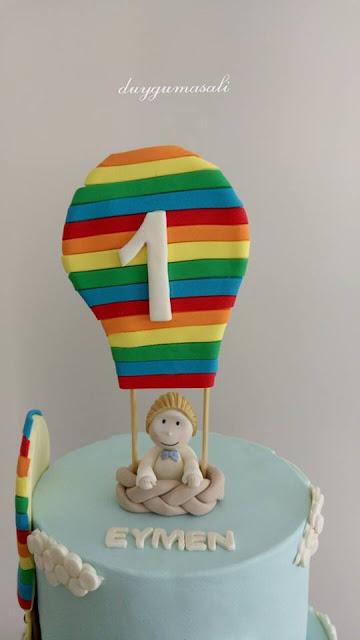 edirne balon temalı butik pasta