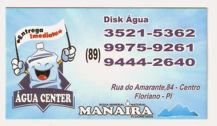 DISK ÁGUA - ÁGUA CENTER MANAÍRA