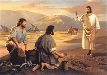 Jesus e os pescadores, Jesus e os apostolos pedro e andre