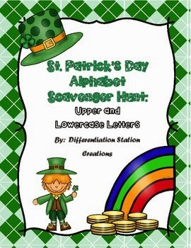http://www.teacherspayteachers.com/Product/St-Patricks-Day-Alphabet-Scavenger-Hunt-Center-Printables-1079897