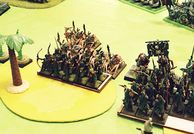 wood elves versus orcs & goblins