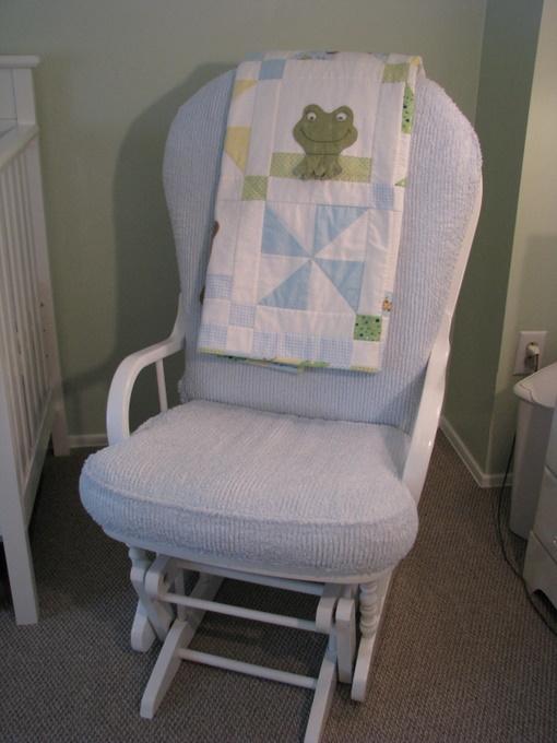 Rocking glider rocking chair cushions sets modern nursery rocking