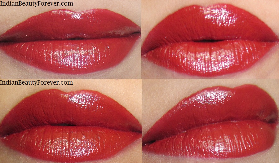 VOV Aqua Rouge Lipstick In Spicy Red Swatches'