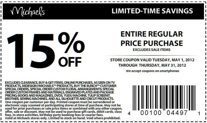 Michaels discount coupons printable
